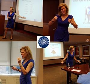 Jayne Latz presenting